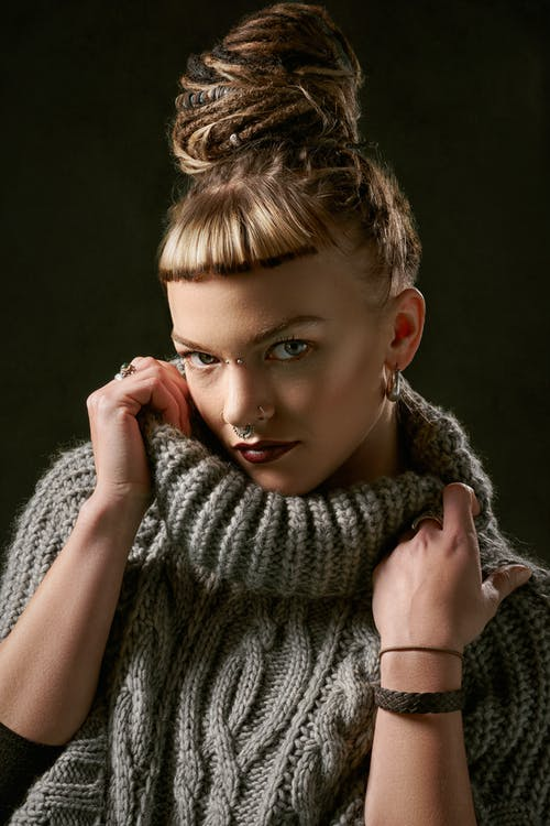 Woman Wearing Knitted Top