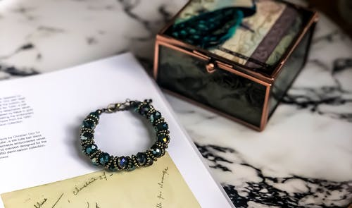 Beaded Bracelet With A Handwritten Letter