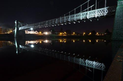 Imagine de stoc gratuită din cer de noapte, noapte de oraș, pod, reflexii