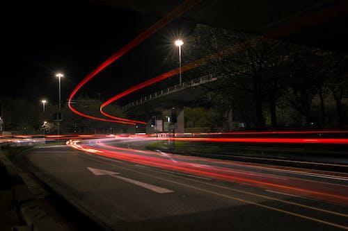 Imagine de stoc gratuită din camion, camion de marfă, drumuri, noapte de oraș