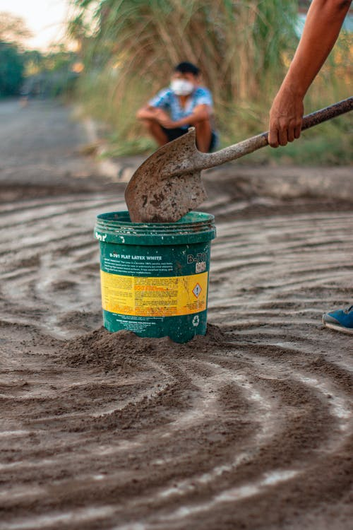 Kostenloses Stock Foto zu erde, löffel, sand, schaufel