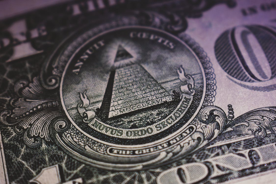 Close-Up of One US Dollar
