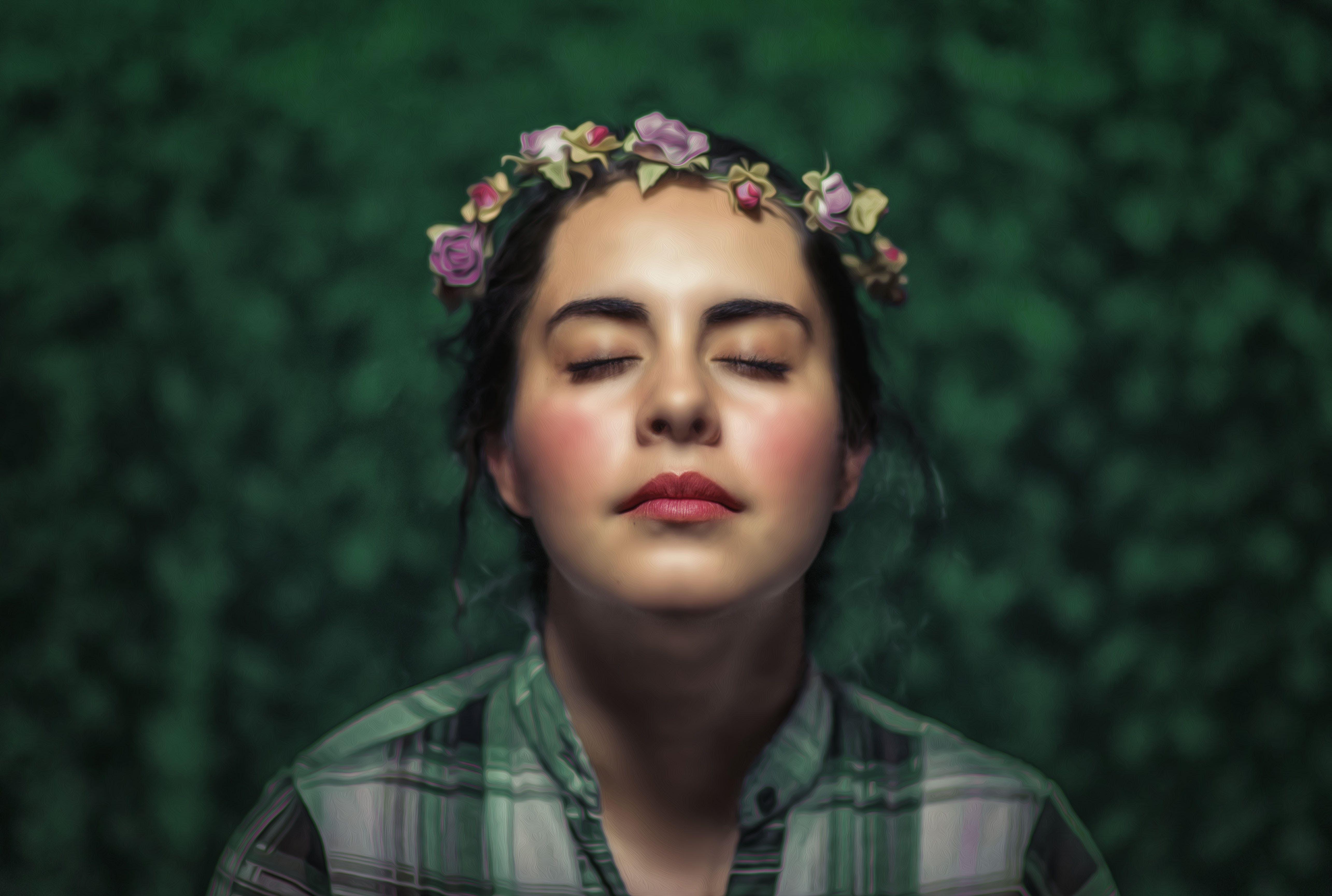 Free stock photo of face, flowers, princess, soft