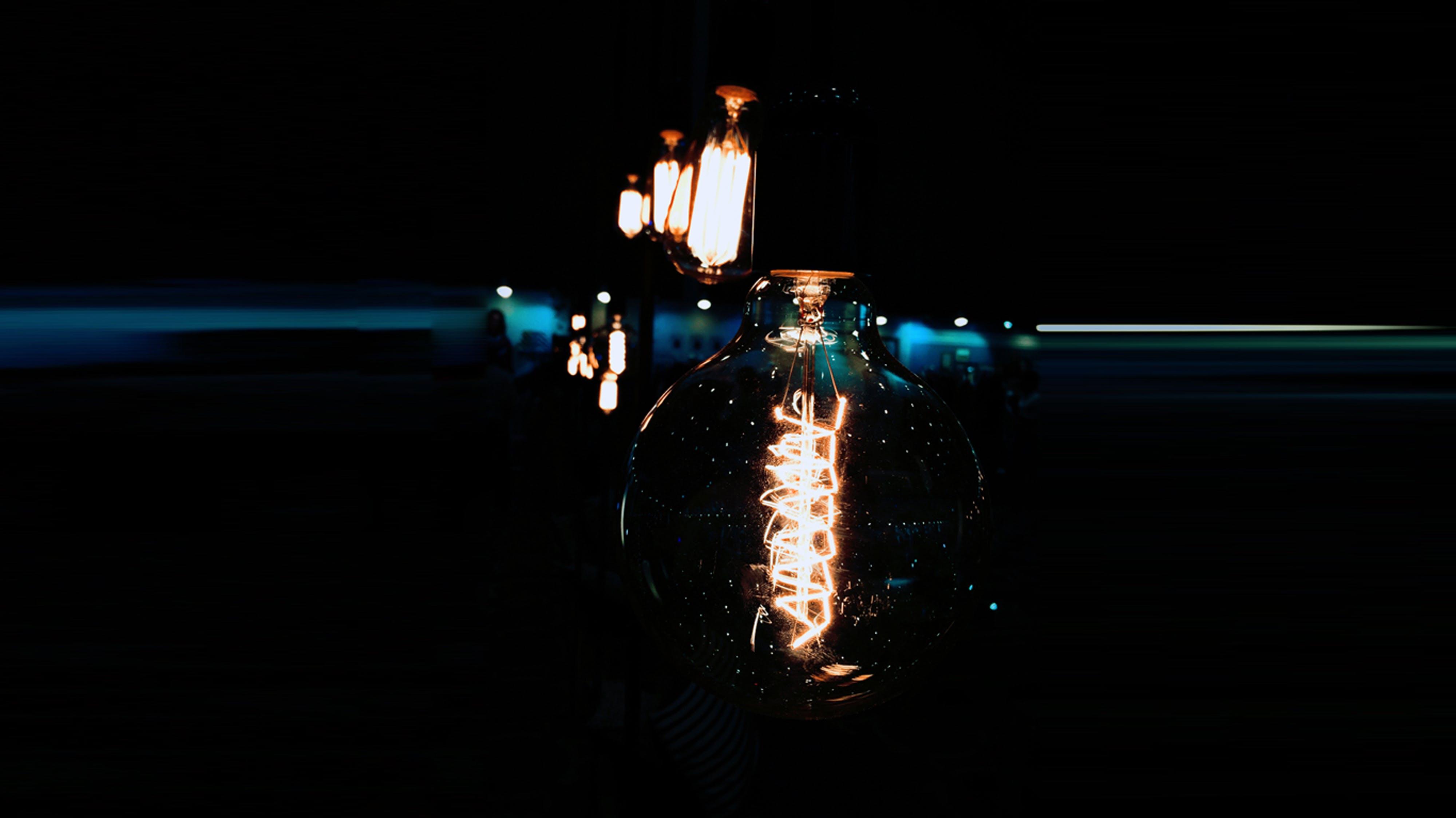 Edison Bulb Digital Wallpaper