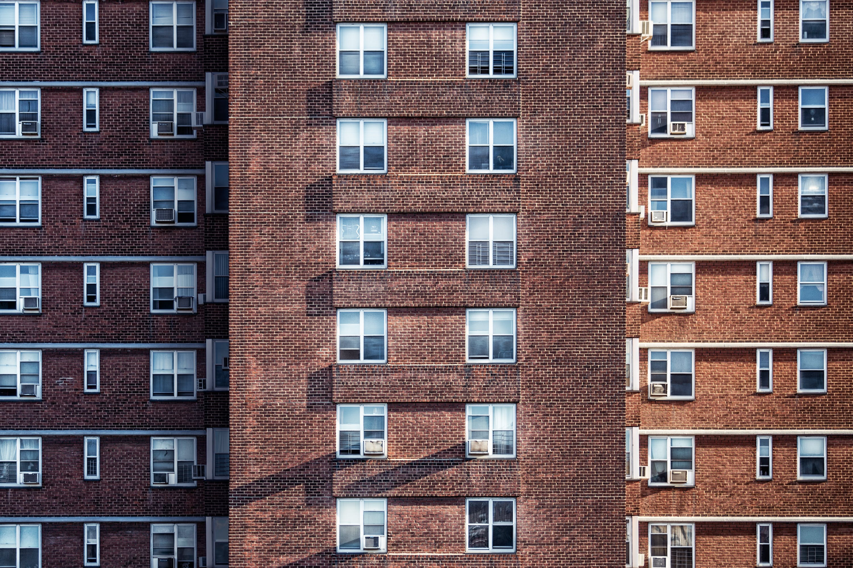 apartamentos, arranha-céu, condomínio