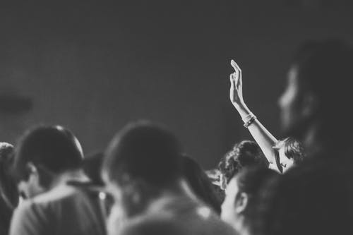 Free stock photo of black and white, christian, church, crowd