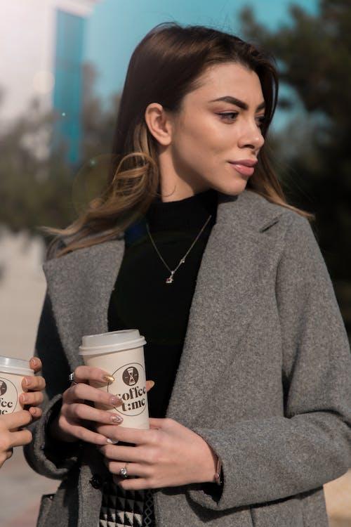 Free stock photo of beautiful woman, coffee, girl