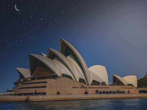 Free stock photo of night, night sky, opera, opera house