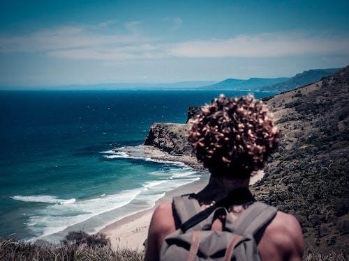Free stock photo of australia, blue, coast, curly hair