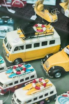 Free stock photo of yellow, car, vintage, display