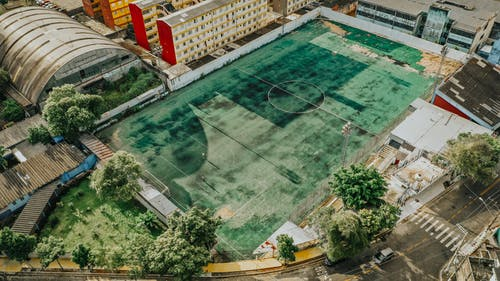 Aerial View Of Sports Field