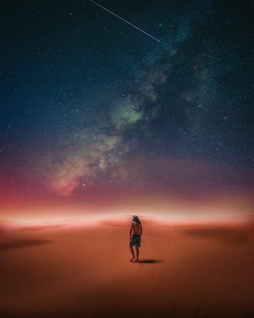 Free stock photo of beautiful, constellation, desert, glow