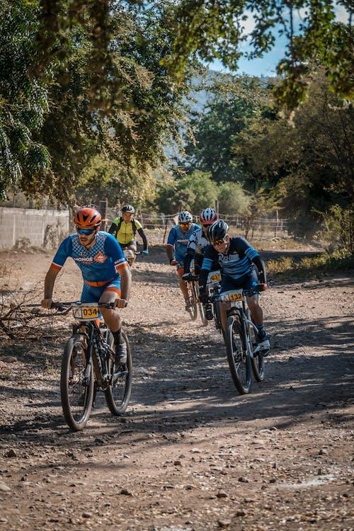 Grupo De Ciclistas à Luz Do Dia