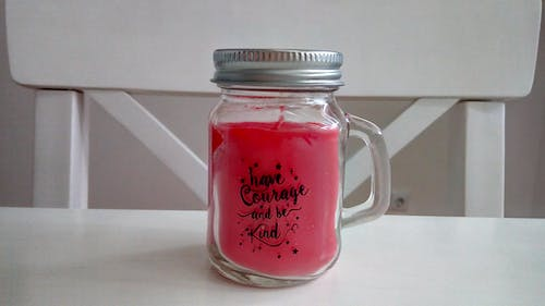 Free stock photo of candle, candle jar, courage, jar