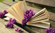 flowers, book, paper