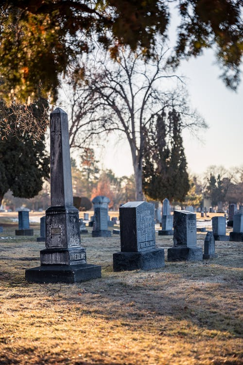 photo of a cemetery