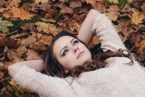 Free stock photo of attractive, autumn park portrait, beauty