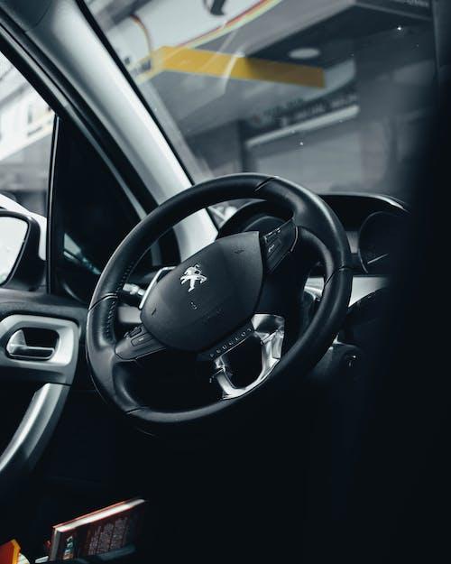 руль Peugeot черный