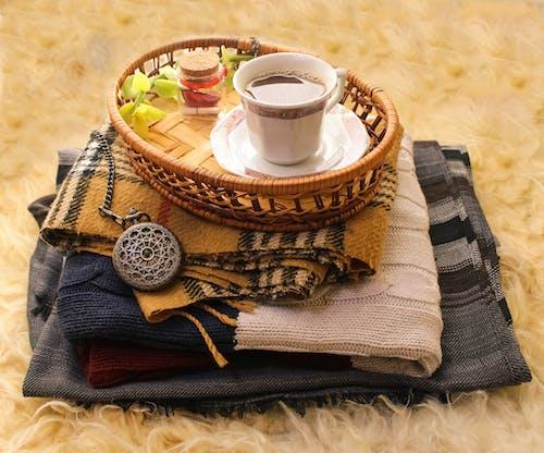 Imagine de stoc gratuită din cafea, eșarfă, lână, lumina soarelui