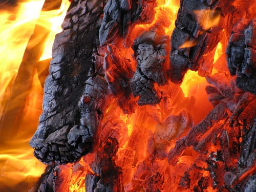 Foto profissional grátis de ardente, chama, cinza-escuro, fogo