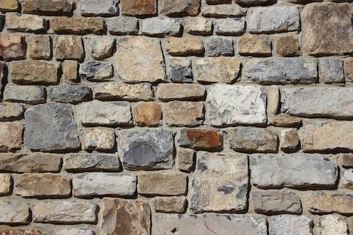 Gray Brown And Black Brick Stone Wall