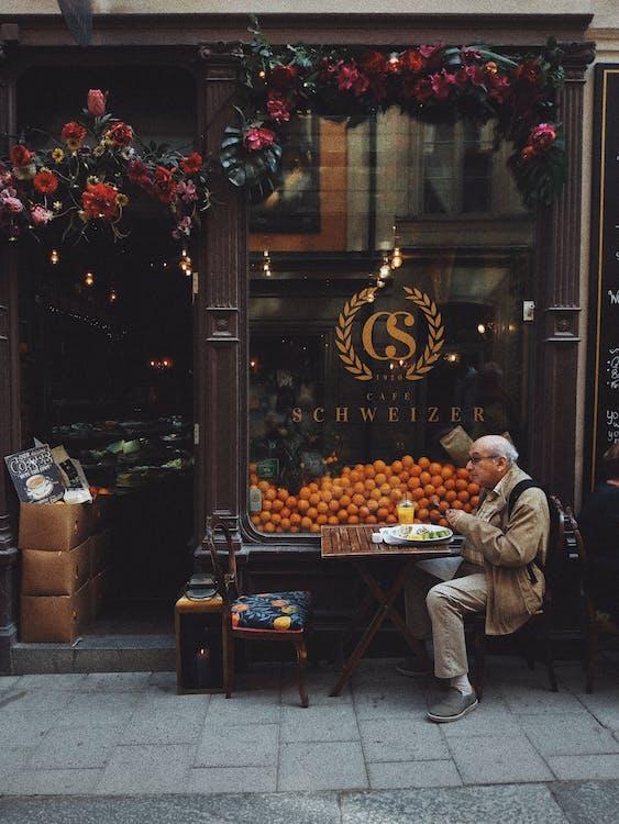 アダルト, オレンジ, お年寄り
