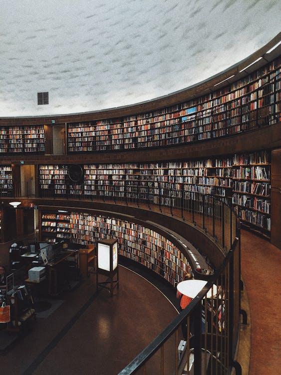 Estante De Madera Marrón Con Libros