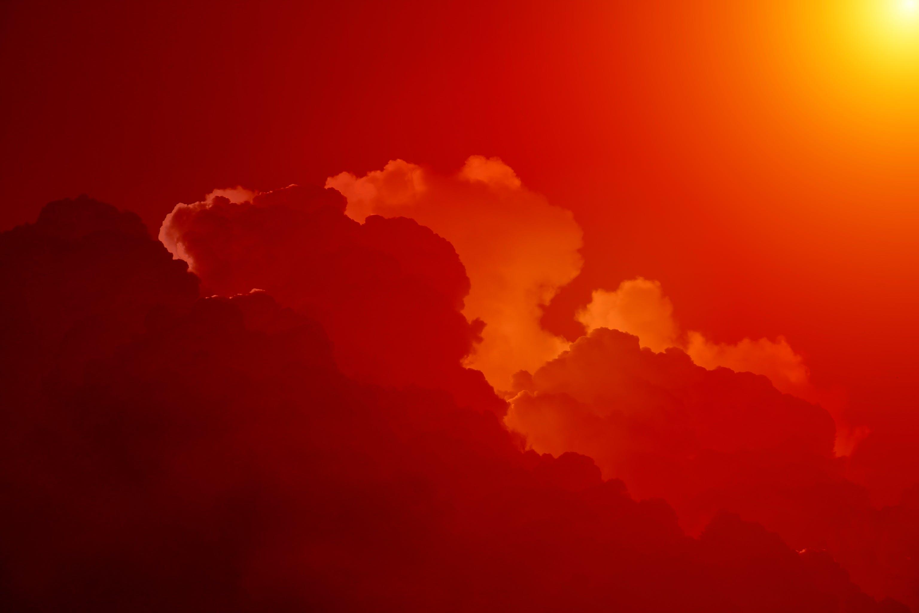 White Clouds Under Orange Sky during Daytime