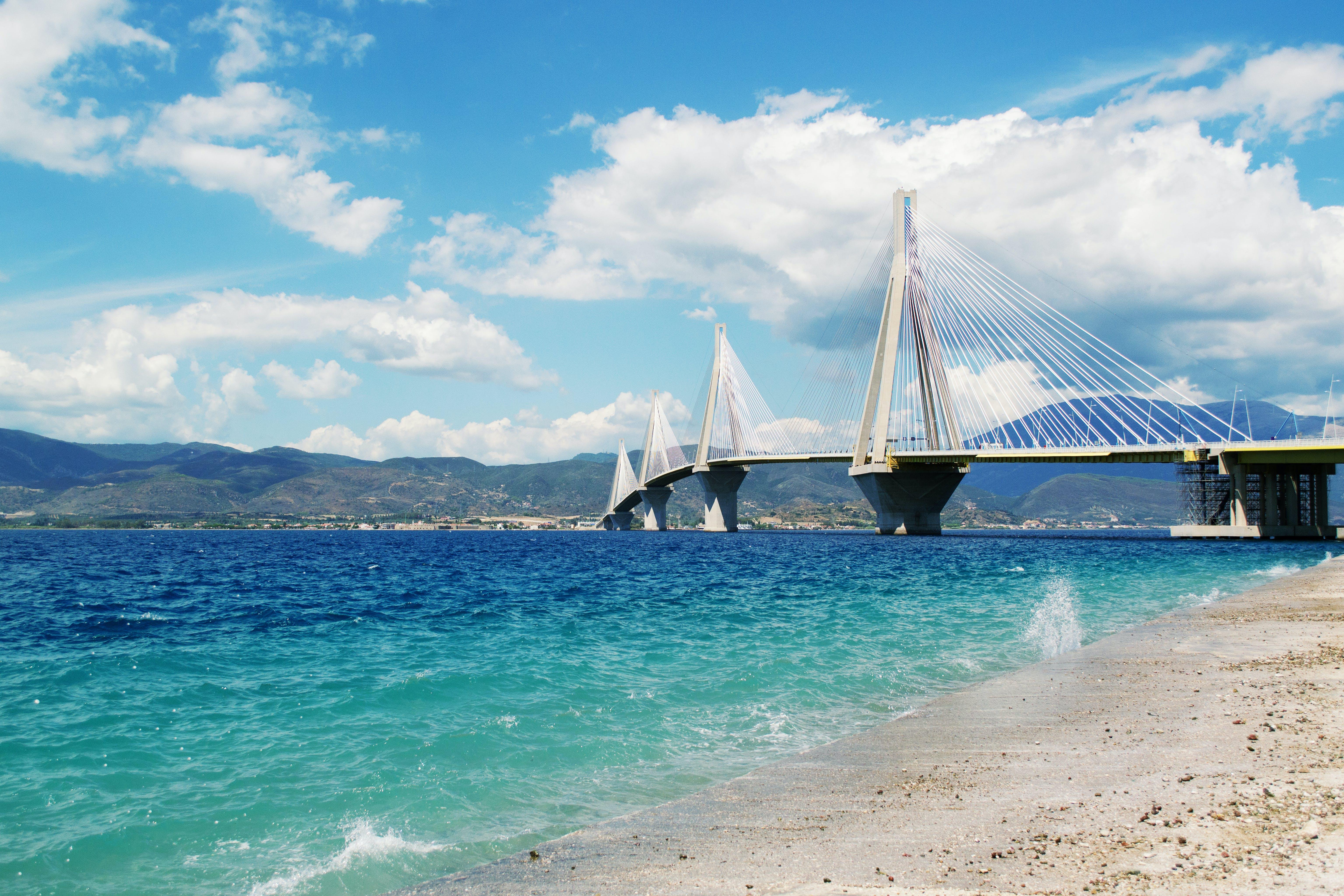 White Suspension Bridge