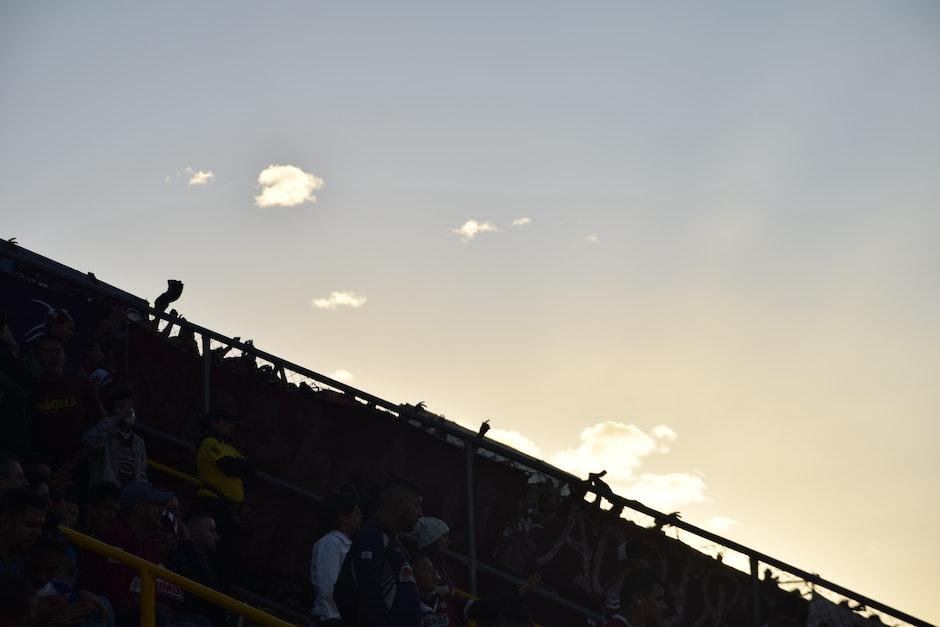 Afición, clouds, contraluz