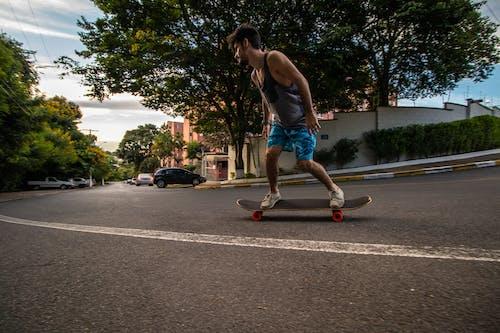Kostenloses Stock Foto zu action, aktion, aktiv, asphalt