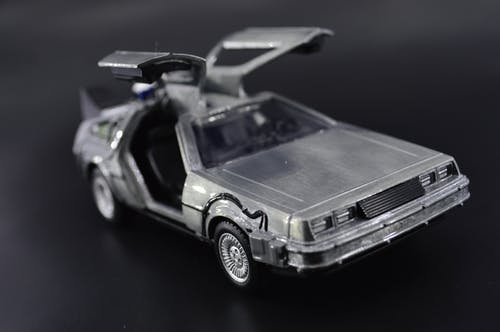 Free stock photo of black car, car, delorean, future