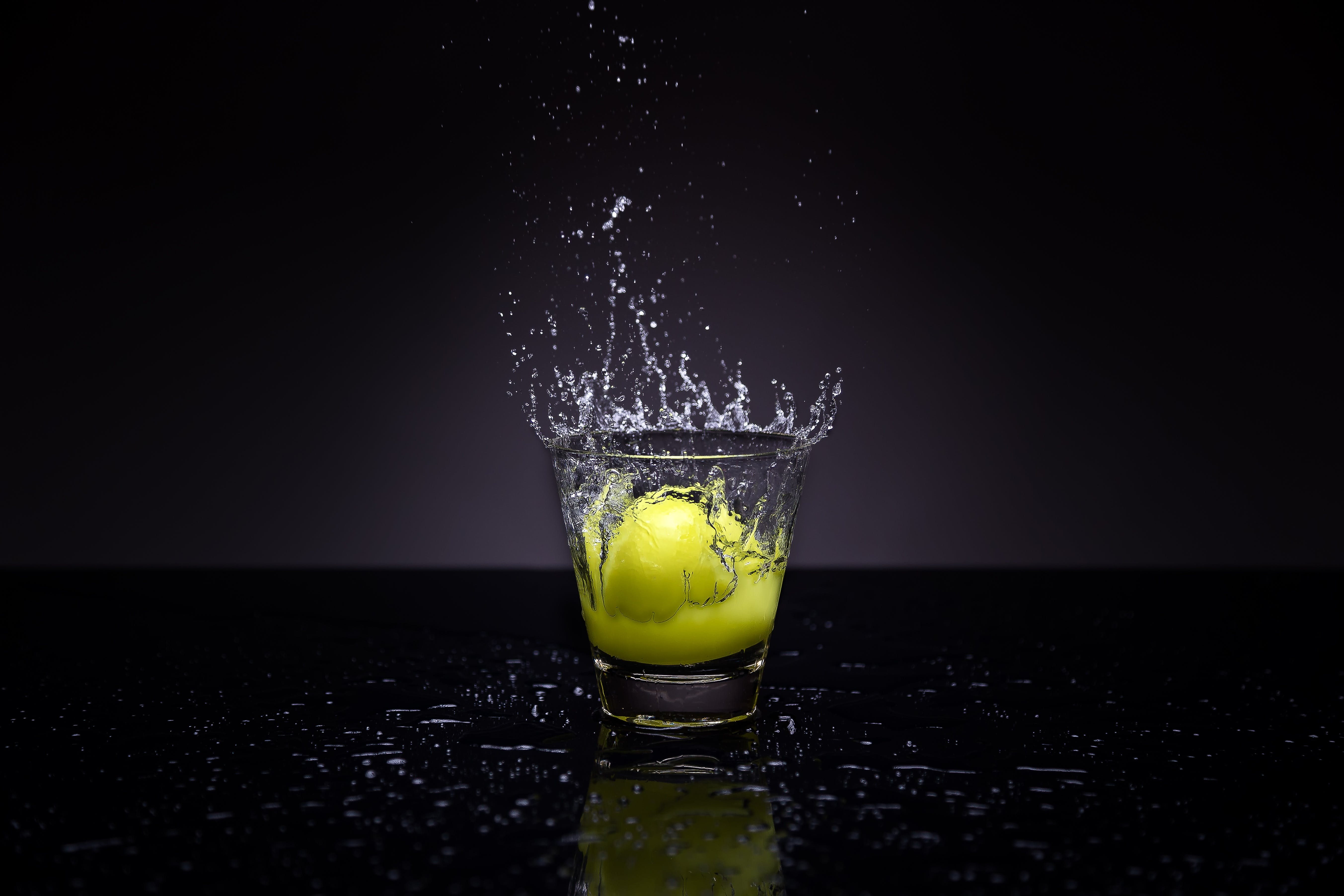 Clear Shot Glass With Tennis Ball