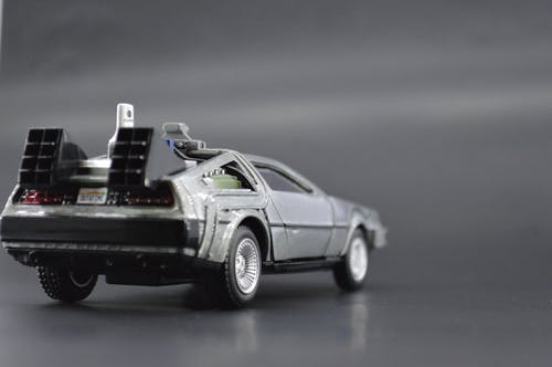 Free stock photo of 80s, black car, delorean, toy car