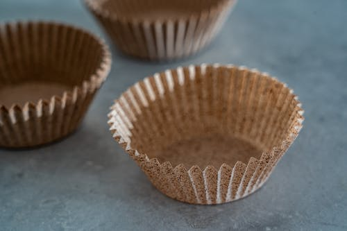 Empty Brown Cupcake Cups