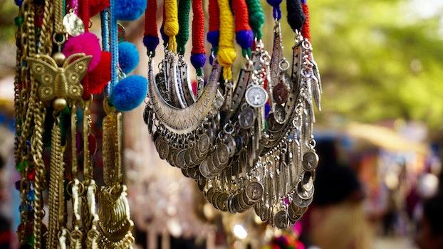 Free stock photo of fashion, women, market, jewellery
