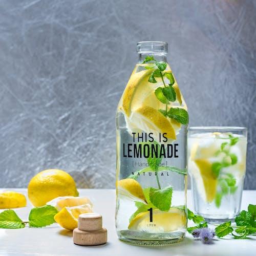 Základová fotografie zdarma na téma citron, džus, ingredience, láhev