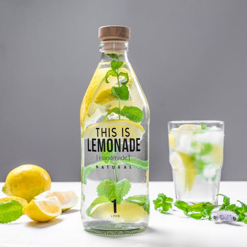 Photo Of Lemon Slices Inside Bottle