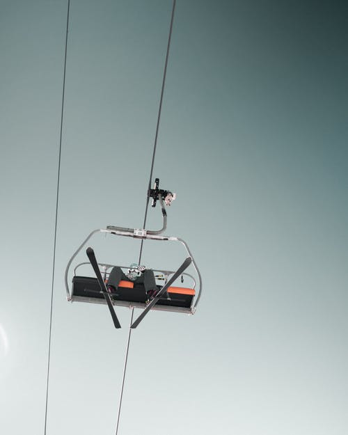 Person On A  Cable Car