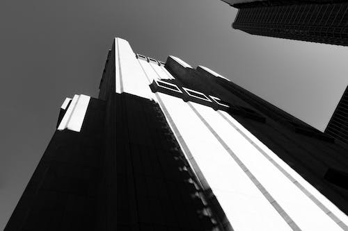Free stock photo of black and white, skyscrapers