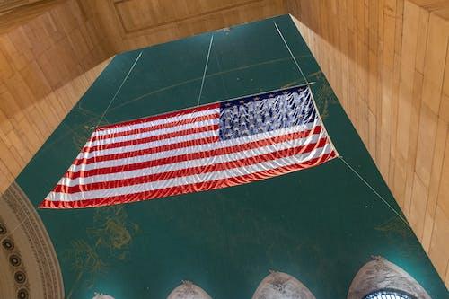 Ingyenes stockfotó alacsony szög, amerikai zászló témában