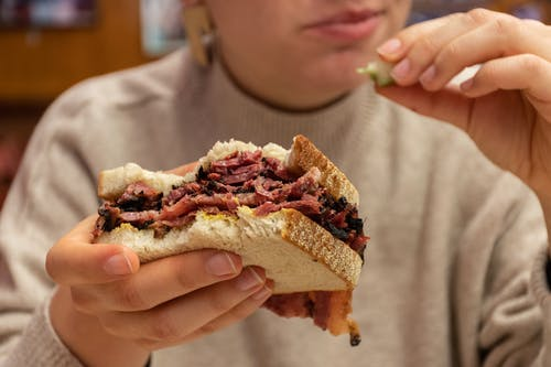 Free stock photo of pastrami, sandwich