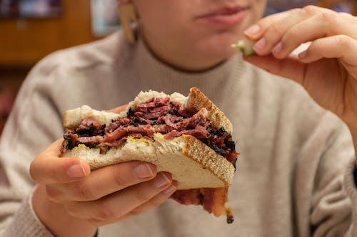 Ingyenes stockfotó füstölt hús, szendvics témában