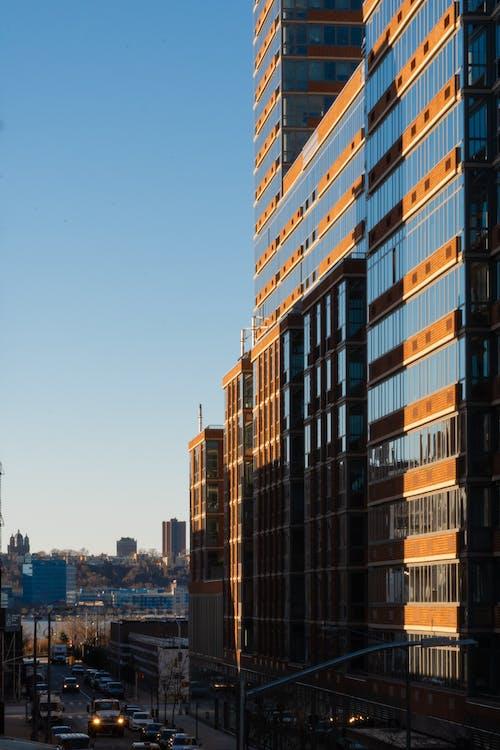 Ingyenes stockfotó felhőkarcolók, naplemente, napnyugta témában