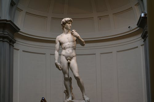 White Marble Statue of a Man
