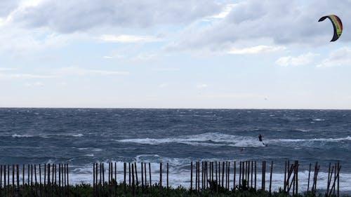 Free stock photo of kiteboarding
