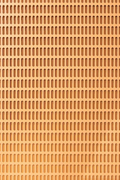Orange Wall With Geometrical Design