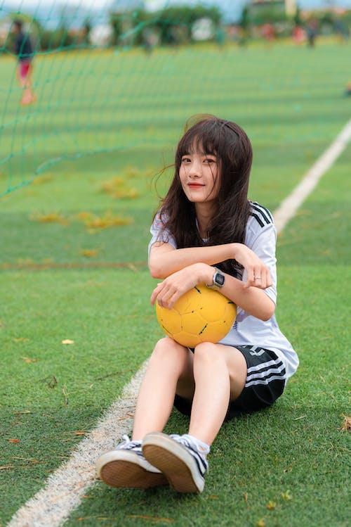 공, 귀여운, 석쇠, 아시아 여성의 무료 스톡 사진