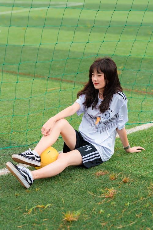 Ảnh lưu trữ miễn phí về áo bóng đá, bóng đá, cầu thủ bóng đá nữ, Châu Á
