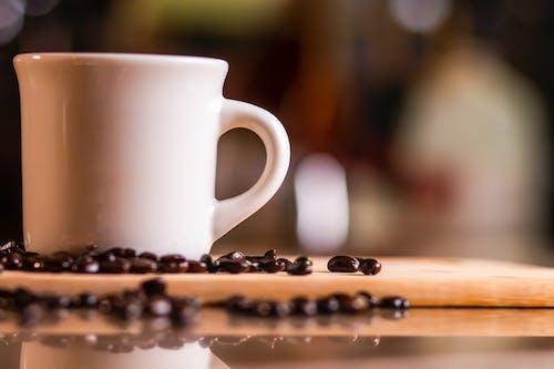 Kostnadsfri bild av dryck, grunda fokus, kaffe, kaffebönor